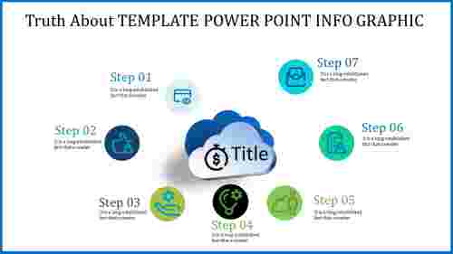 template power point info graphic - icons