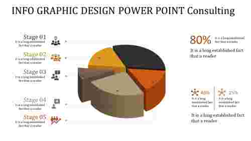 info graphic design power point - pie chart