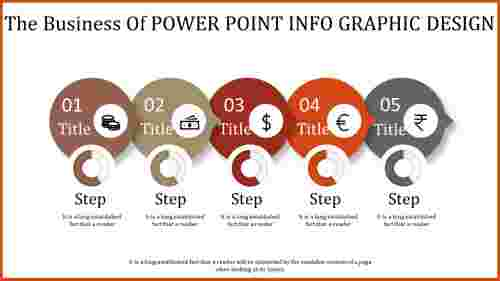 power point info graphic design - five stages