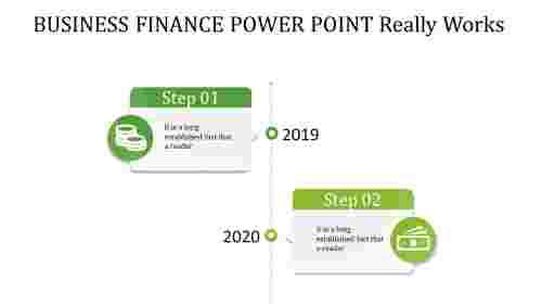 business finance power point - green