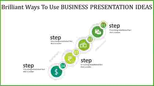 circular business presentation ideas - vertical row