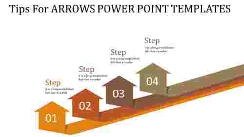 arrows power point templates - multicolor