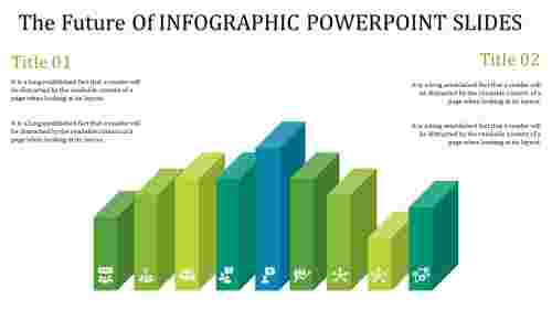 A four noded info graphic power point slides