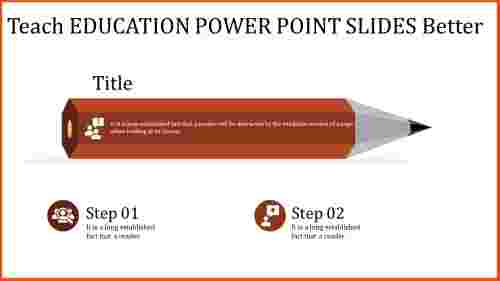A five noded education power point slides