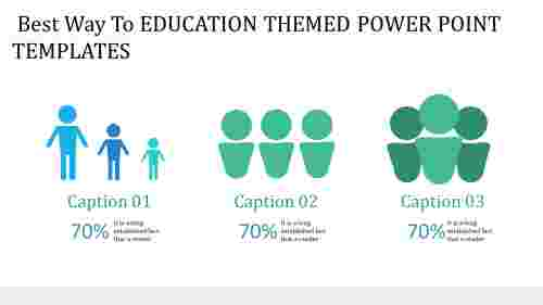 education themed power point templates -human icons