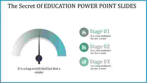 education power point slides - pointer