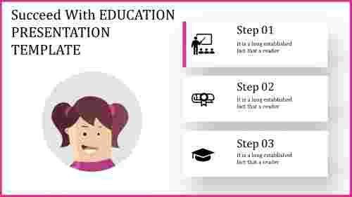 education presentation template with icons