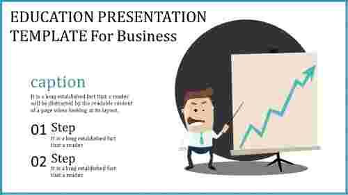 Education presentation template - strategy