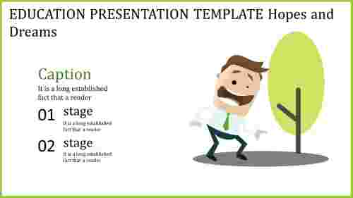 education presentation template of growth