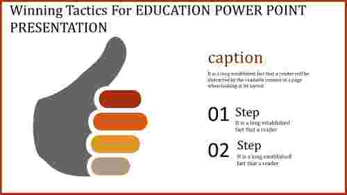 Thumbs-up  education power point presentation