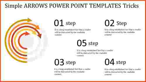Circular arrows powerpoint templates