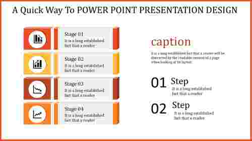 A three noded power point presentation design