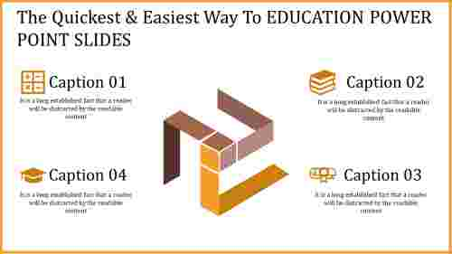 education power point slides with yellow theme