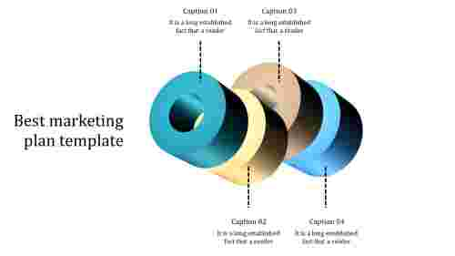A four noded best marketing plan template