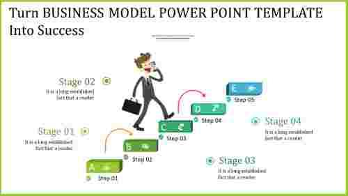 Rectangular business model power point template