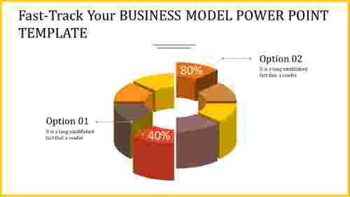 3D business model power point template
