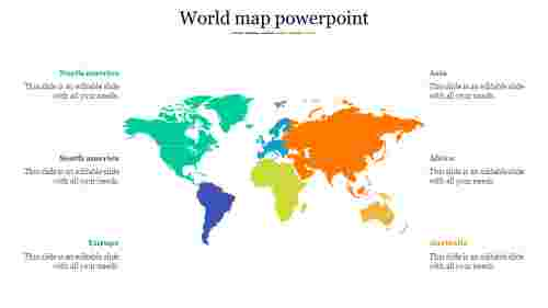 world map power point with country names