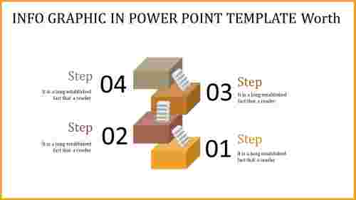 Step wise info graphic in power point template