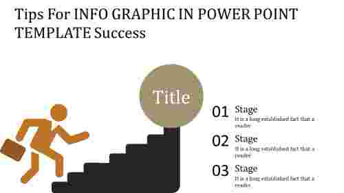 info graphic in power point template with steps
