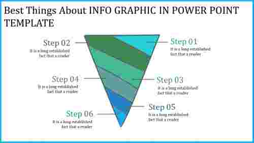 Funnel info graphic in power point template
