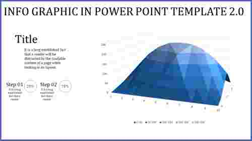 info graphic in power point template with quality