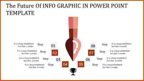 info graphic in power point template for success