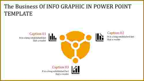 info graphic in power point template with growth icons