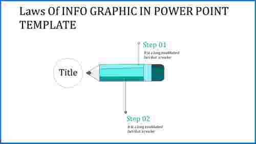 info graphic in power point template with simple pencil