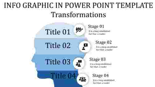 info graphic in power point template with stages