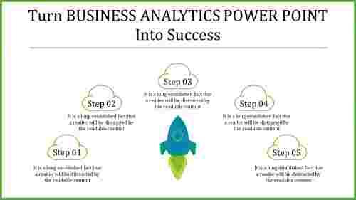 five level Business analytics powerpoint