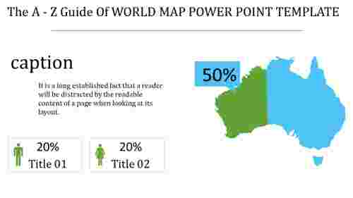 world map power point template - population