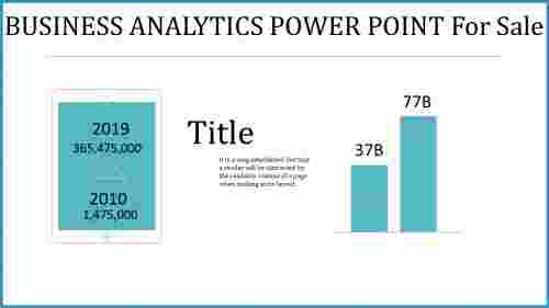 business analytics power point - introduction template