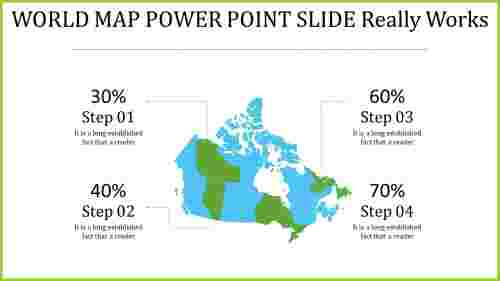 world map power point slide - economic growth