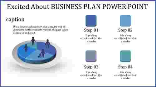 business plan power point - bluc pie chart