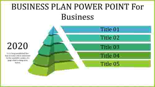 Business plan power point in pyramid design