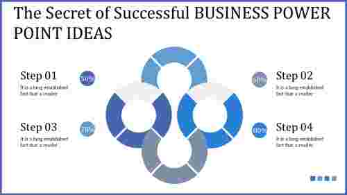 business power point ideas - blue