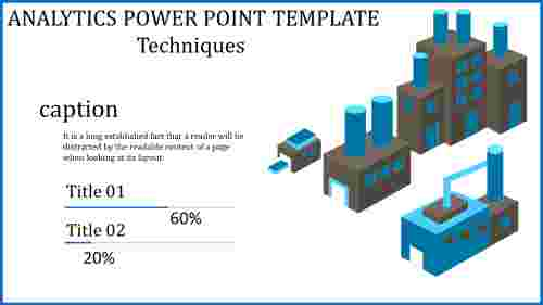 An Industry analytics power point template
