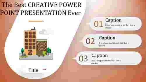 Building model creative power point presentation