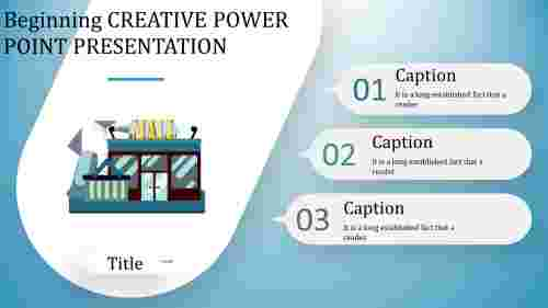 Shopping creative power point presentation