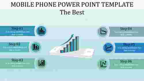 Graphical mobile phone power point template