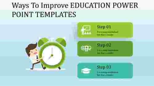 education power point templates - Alarm model