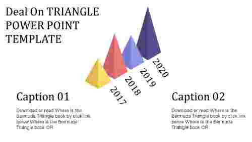 Triangle PowerPoint template-cone mode