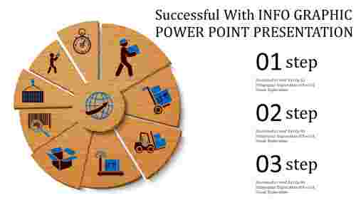 info graphic power point presentation for simple business