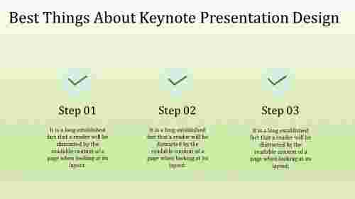 A three noded keynote presentation design
