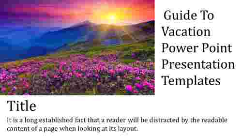 A one noded vacation power point presentation temp