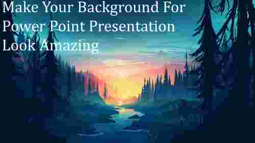 Forest background for power point presentation