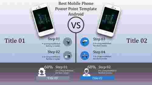 A six noded mobile phone power point template