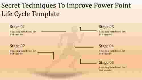 A five noded power point life cycle template