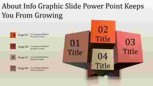 A four noded info graphic slide power point