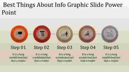 A five noded info graphic slide power point